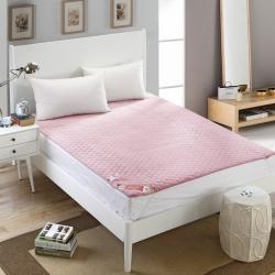 芙琳家纺 精美超柔珊瑚绒床护垫 粉色