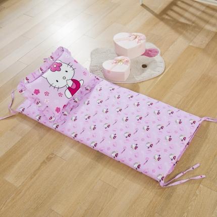 (总)吉咪兔家纺 13372大版花床垫+枕头两件套不含芯