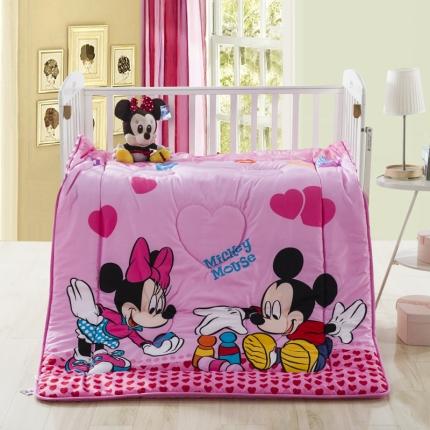迪士尼家居 全棉活性印花儿童春秋被米妮