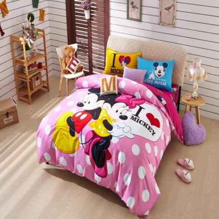 迪士尼家居 全棉活性印花宽幅四件套床单款786