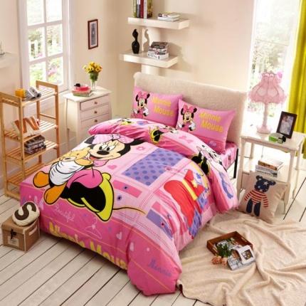 迪士尼家居 全棉活性印花宽幅四件套床单款4073