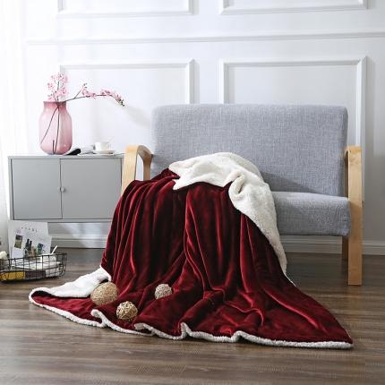 网客家纺 ULTIMATE顶级羊羔绒毛毯西班牙红