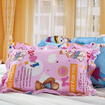 艾丽丝枕芯儿童花边枕纯棉外套可脱卸护颈助眠儿童软枕30*50