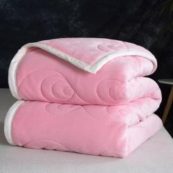 朵绒家纺  9斤孔雀翎被毯 三层加厚毛毯 法兰绒毯