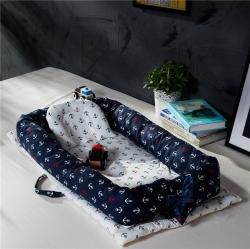 便攜式嬰兒床全棉床中床新生兒寶寶哄睡覺神器仿生床 船長