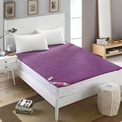 芙琳家纺 精美超柔珊瑚绒床护垫 紫罗兰
