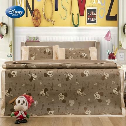 迪士尼家居 2016新款冰丝凉席 幸福米奇米妮咖啡