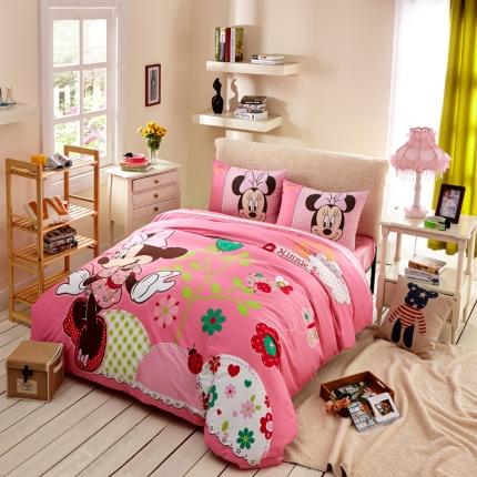 迪士尼家居 全棉活性印花宽幅四件套床单款3796
