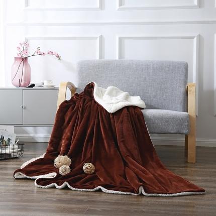 网客家纺 ULTIMATE顶级羊羔绒毛毯太妃咖