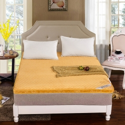 敢谢床垫 珊瑚绒立体床垫 驼色
