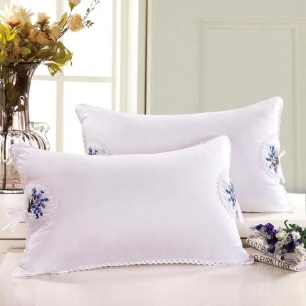 艾丽丝枕芯柔软舒适单人枕 薰衣草羽丝绒枕头芯护颈助眠枕头枕芯